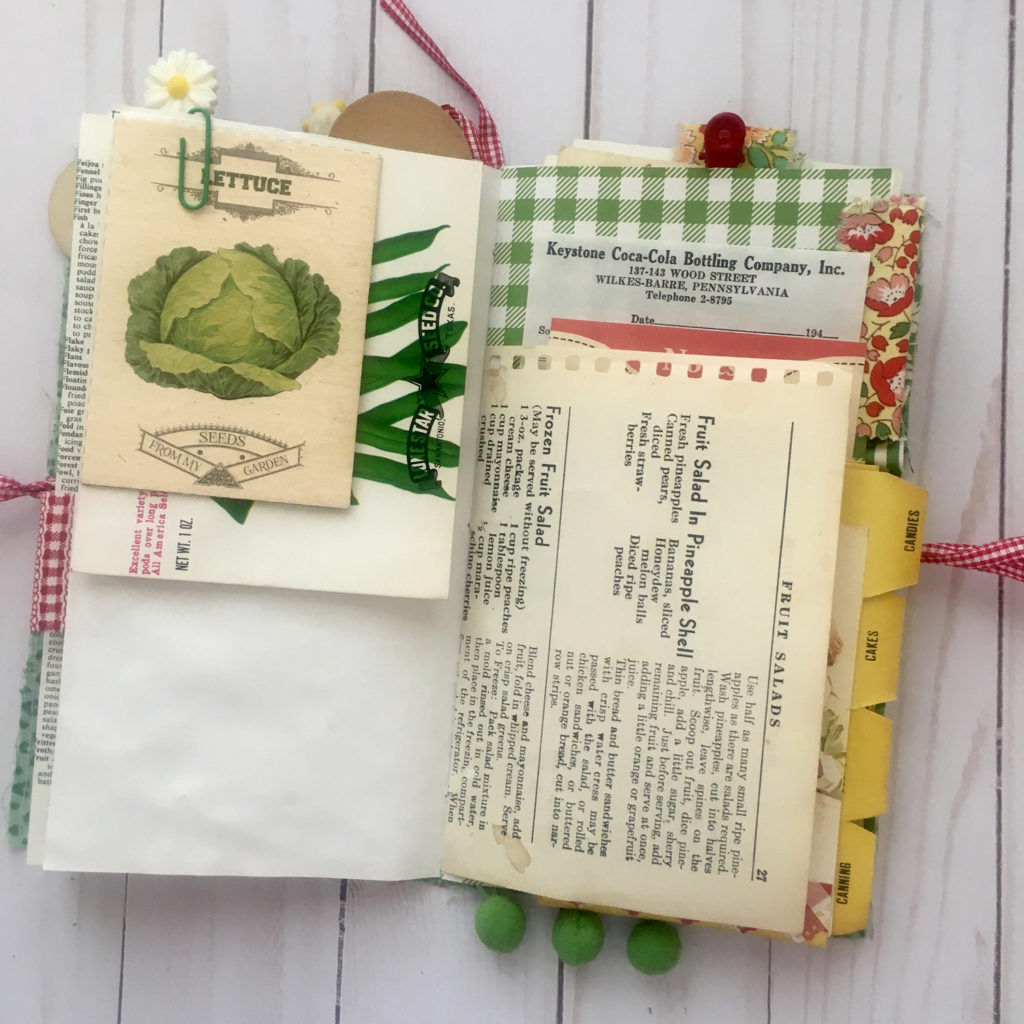 Vintage Kitchen Ephemera Journal Page Idea
