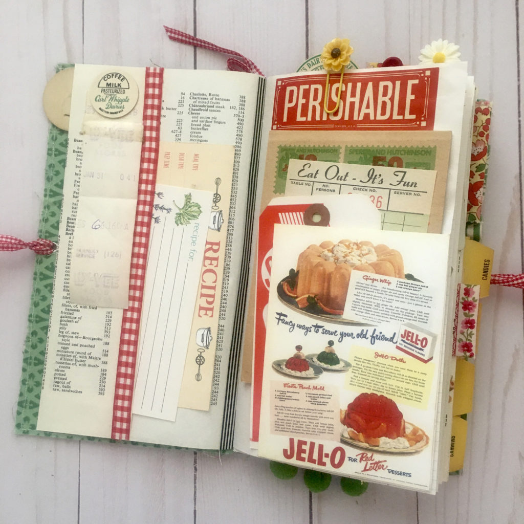 Retro Kitchen Recipe Card Ephemera Journal