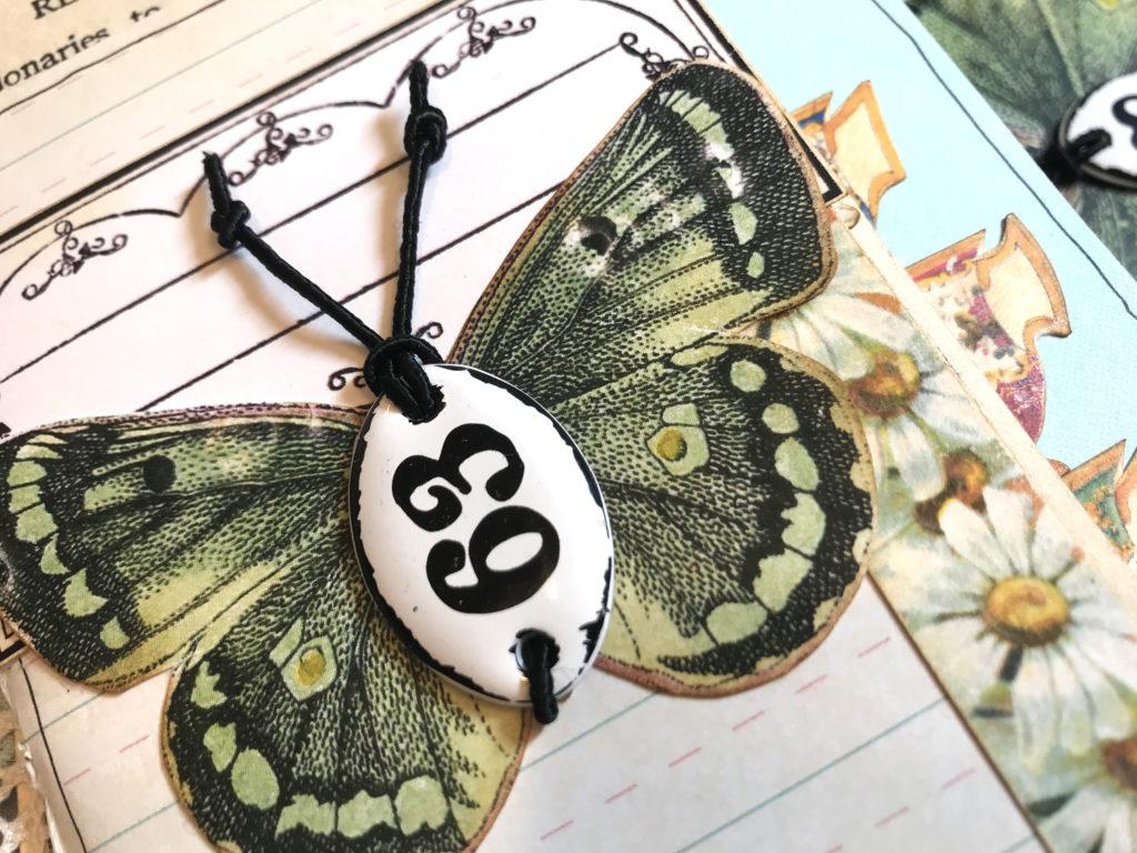 Tea Travelers Notebook Green Butterfly