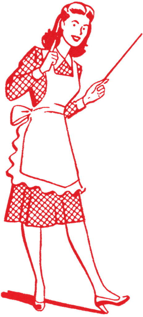 vintage apron mom mother red clipart