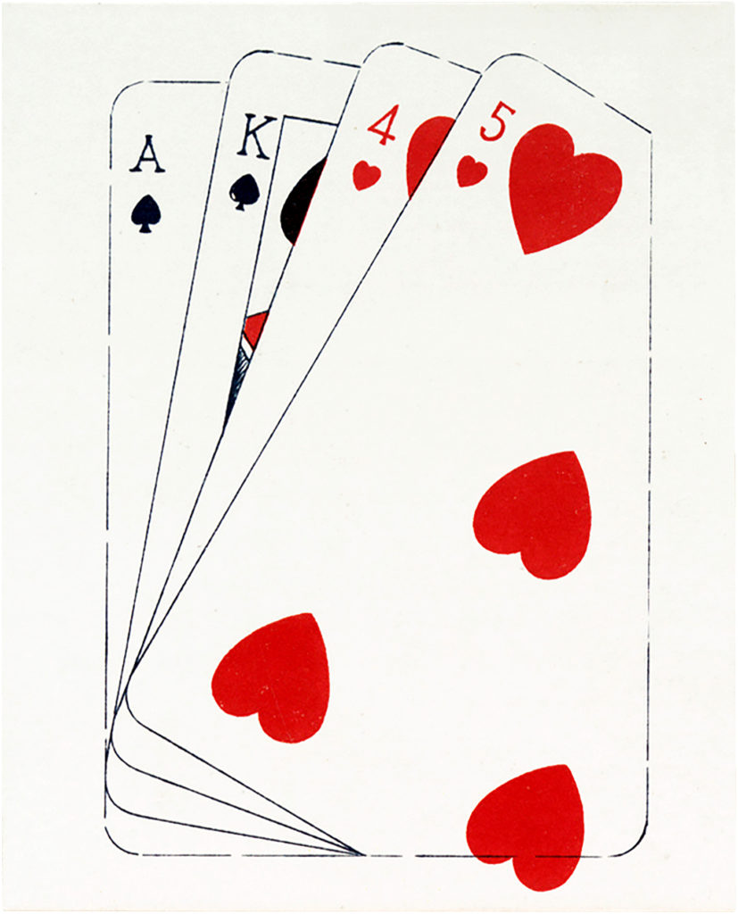 vintage playing card deck clipart