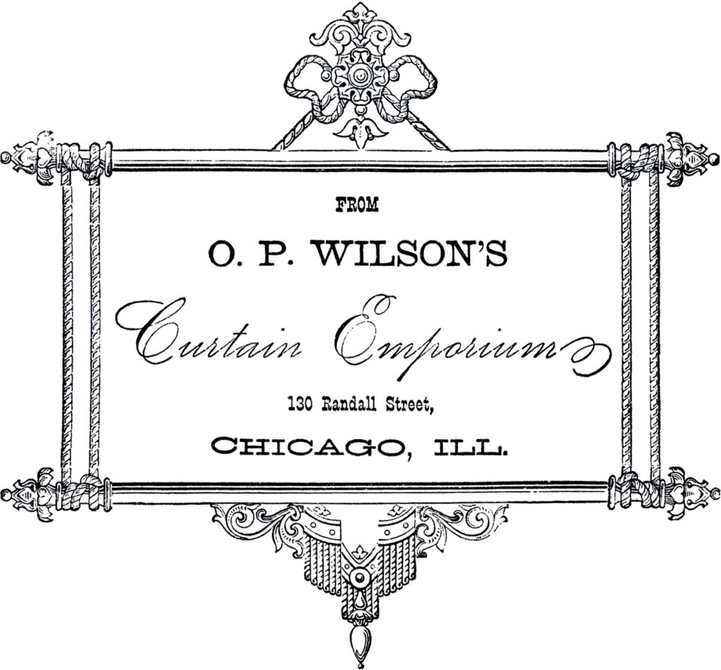 vintage curtain emporium advertising typography image
