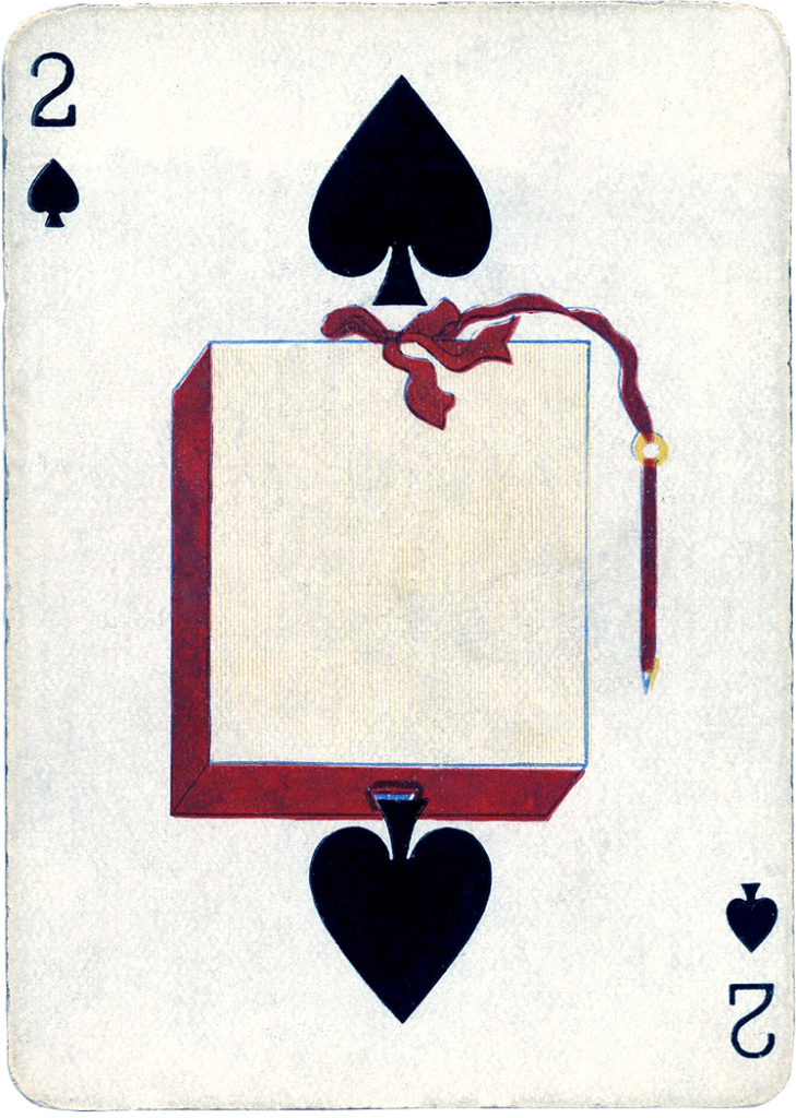 vintage playing card 2 diamonds clip art