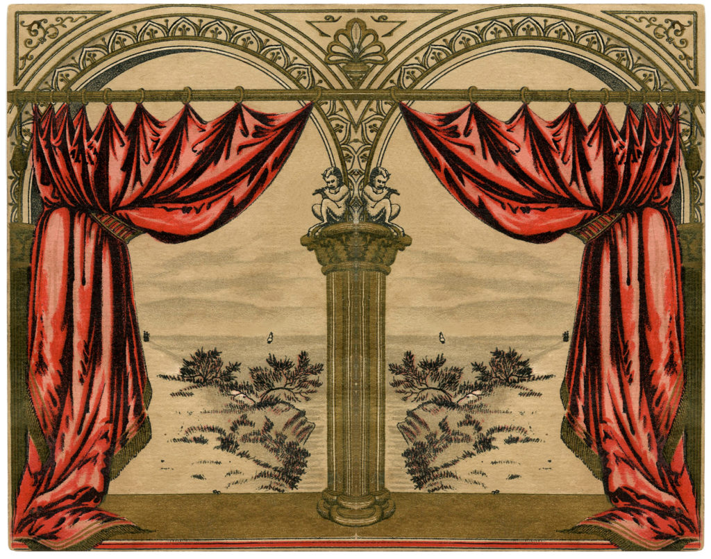 vintage red drapes image