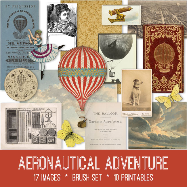 aeronautical adventure vintage images