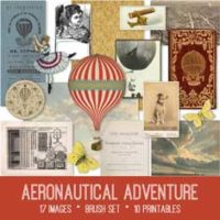vintage aeronautical adventure ephemera bundle