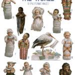 vintage babies around the world ephemera digital image bundle