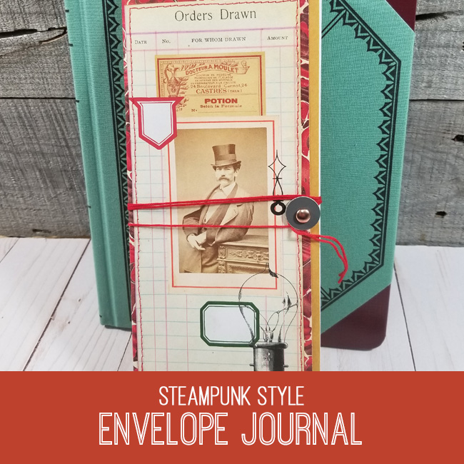 Steampunk style envelope journal tutorial