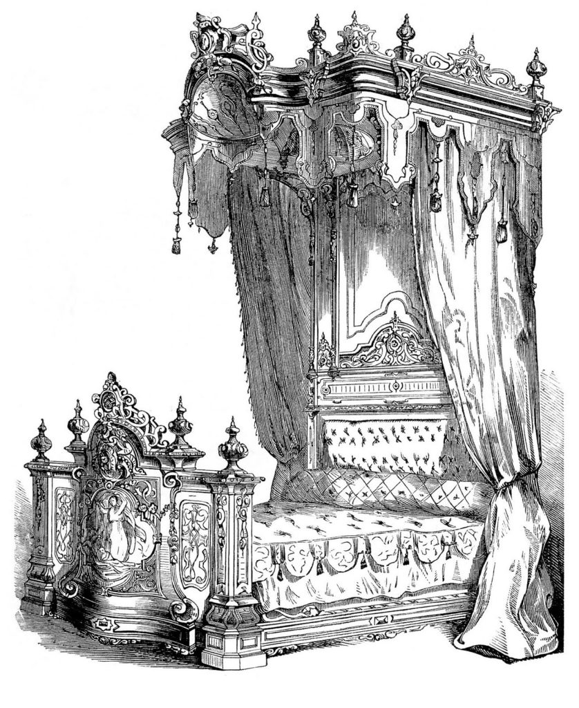 victorian bed canopy image