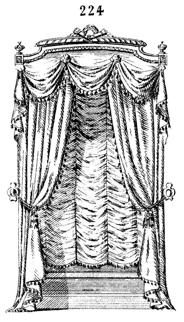 ornate window drapes image