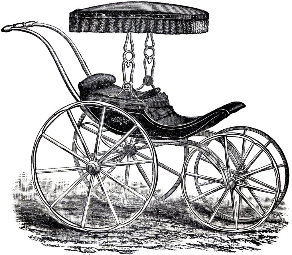 antique baby carriage clip art