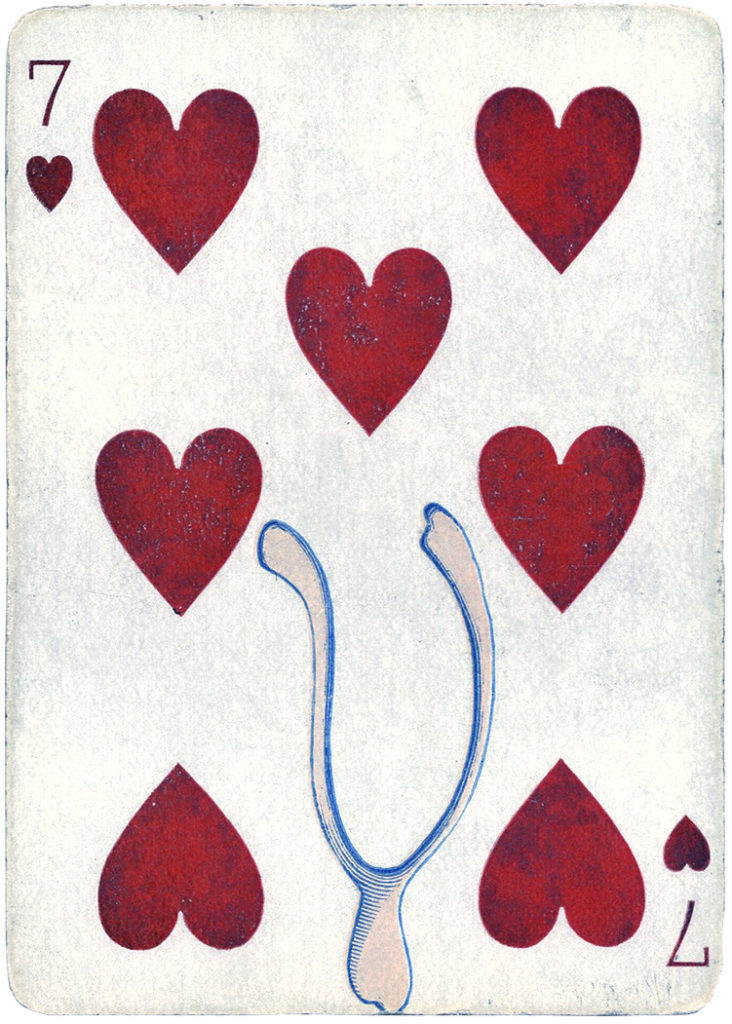 Antique Playing Cards Wishbone