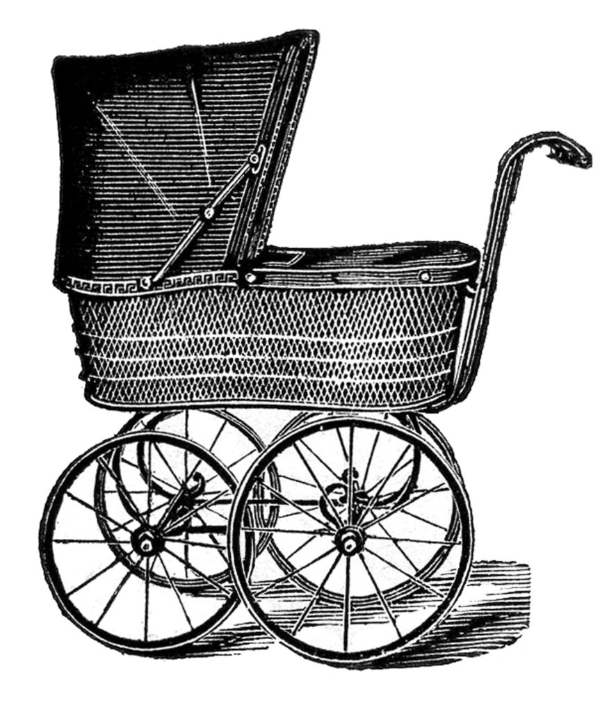 baby carriage vintage image
