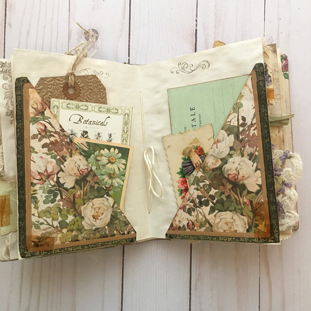 botanic Junk Journal Corner Pockets