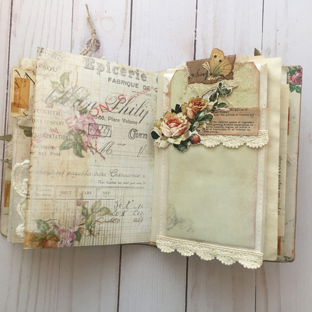 Botanical Junk Journal Floating pocket image