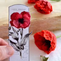 Red Poppies on Gift Tag