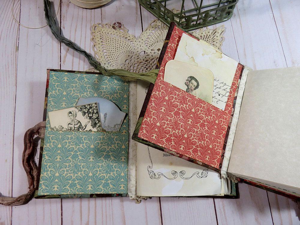 endpapers hidden pocket