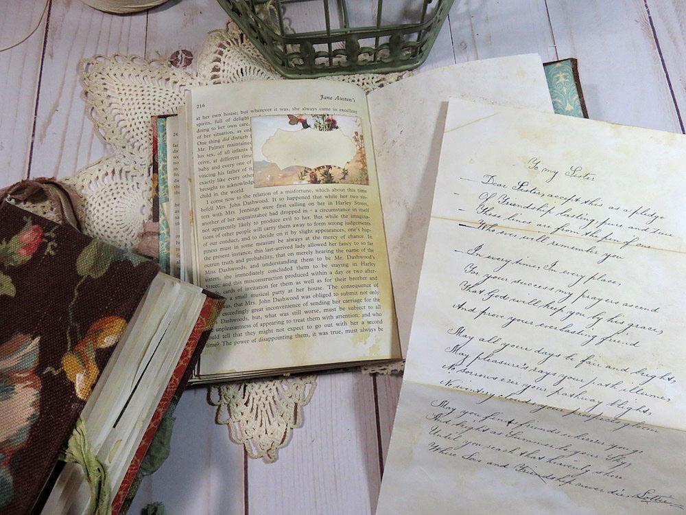letters poems script images journal page