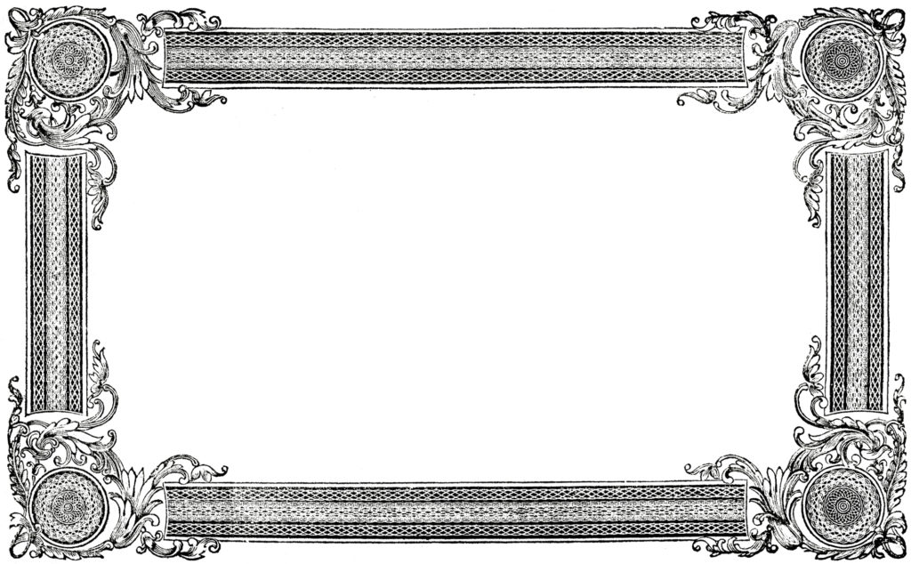 vintage document frame clipart