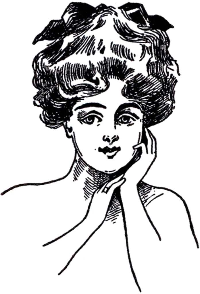 Gibson Girl face Illustration