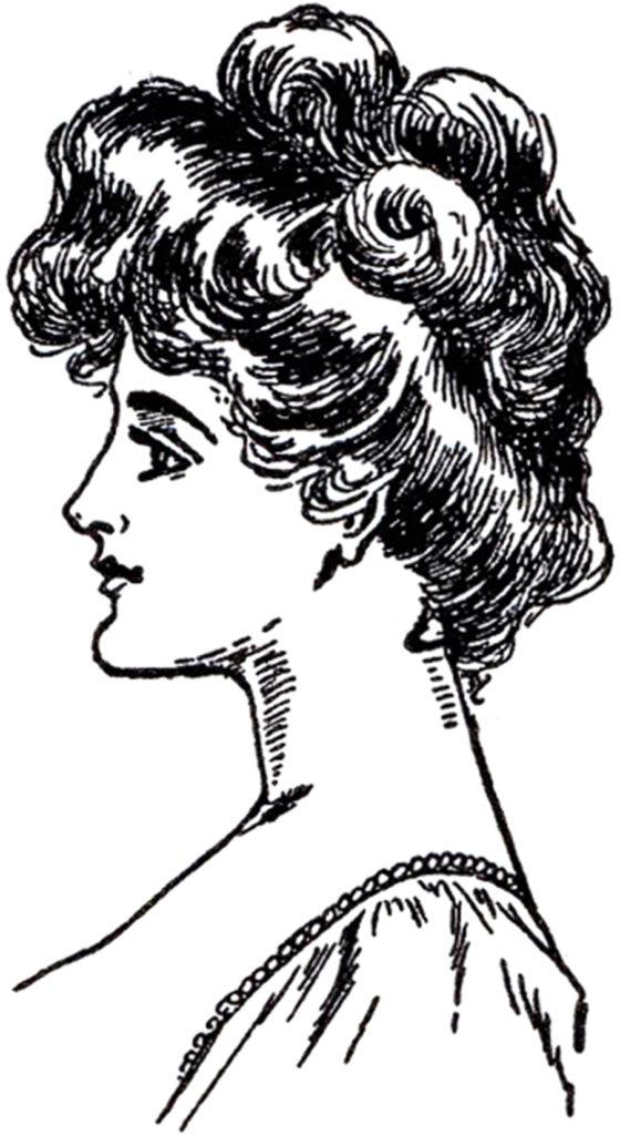 Gibson Girl profile clipart