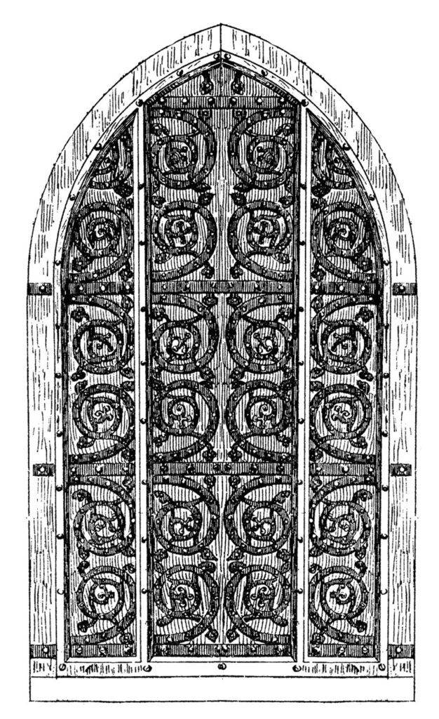 vintage Gothic arched door image