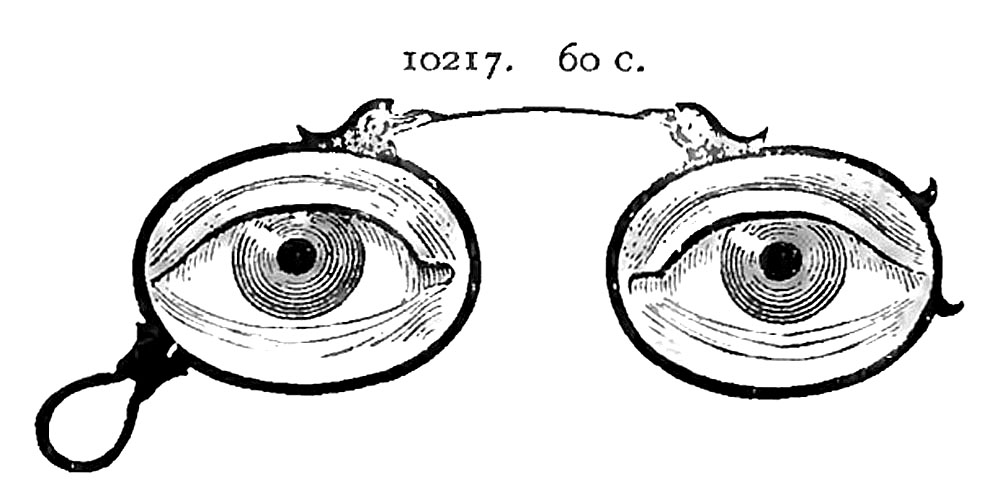 old fashioned spectacles image