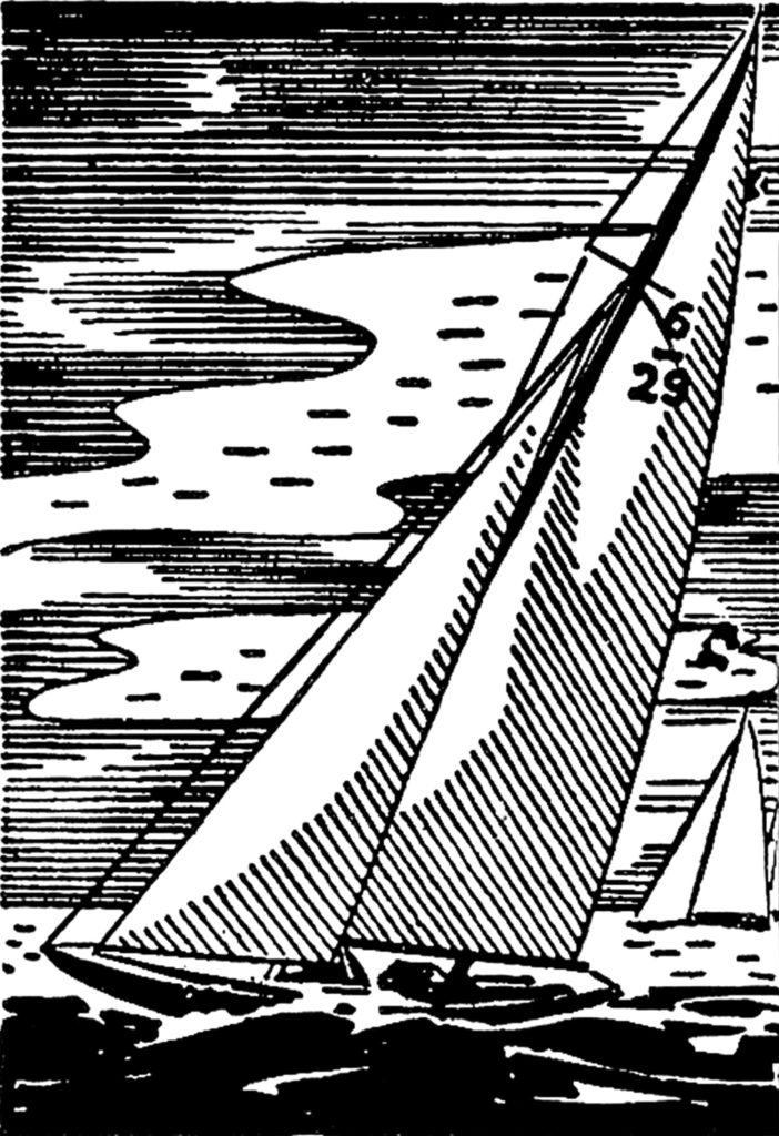 retro sailboat sailing clipart