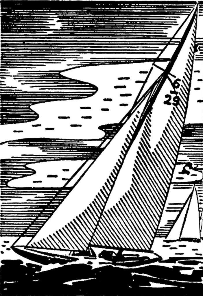 retro sailboat sailing clipart