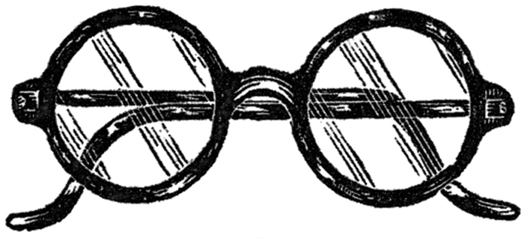 Round Eye Glasses Vintage