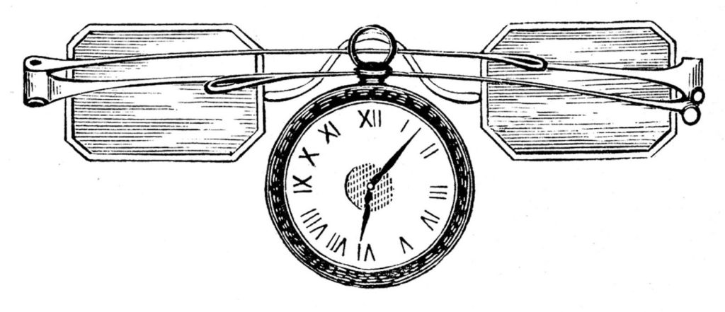 steampunk spectacles pocket watch clipart