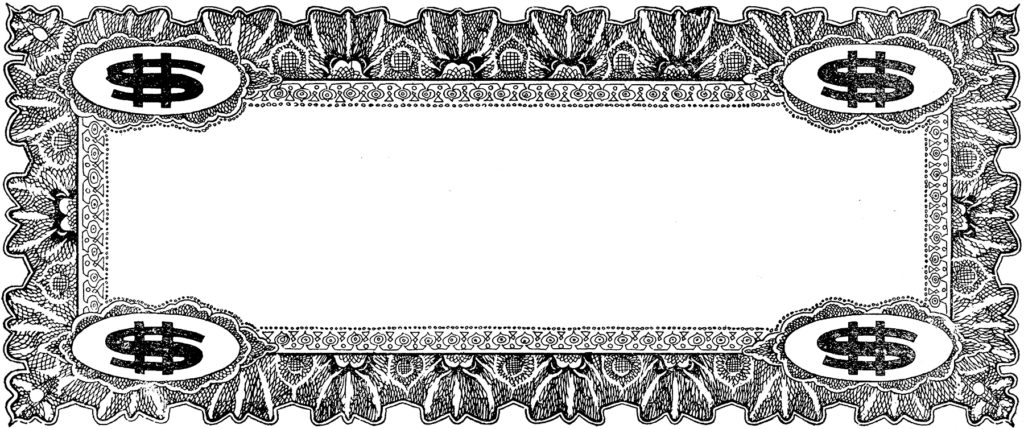 vintage coupon frame clip art