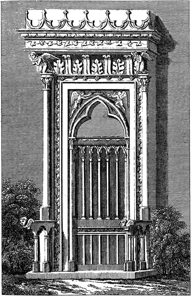Gothic door clip art