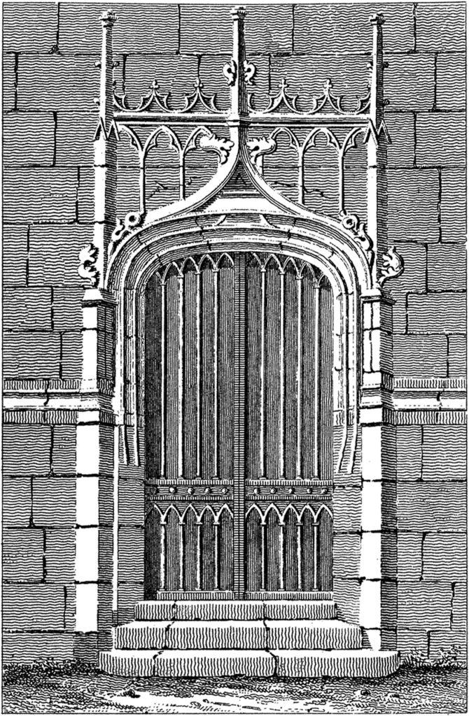 vintage gothic door clipart