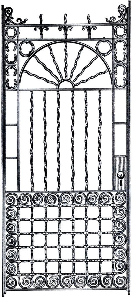 antique iron door image