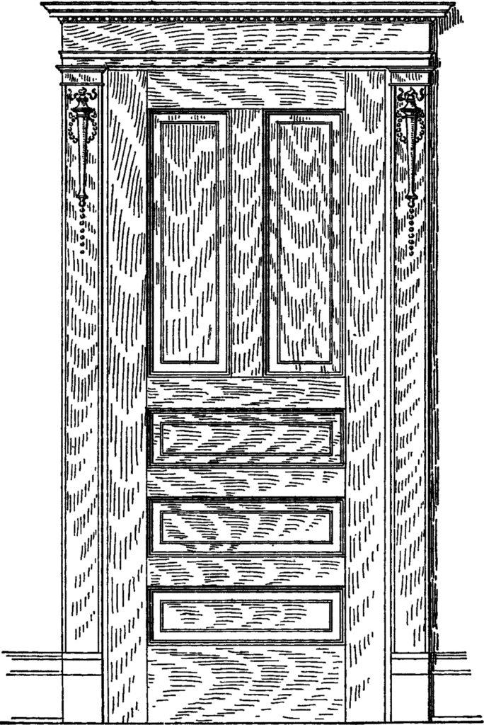 vintage oak door image