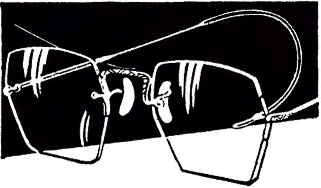 vintage wire glasses clipart