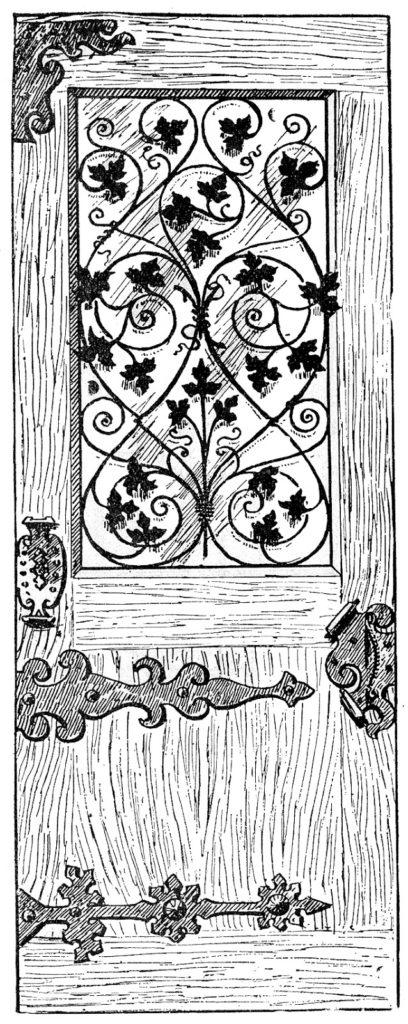 vintage wood iron door image