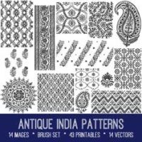 antique India patterns bundle