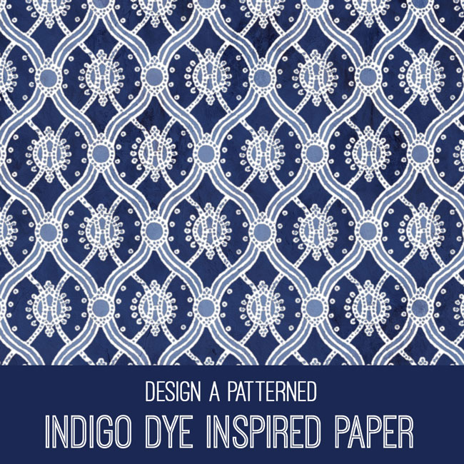 Indigo Dye Inspired Paper PSE Tutorial