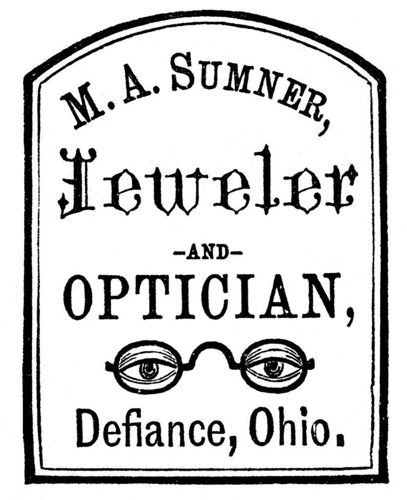antique optician sign advertising clip art