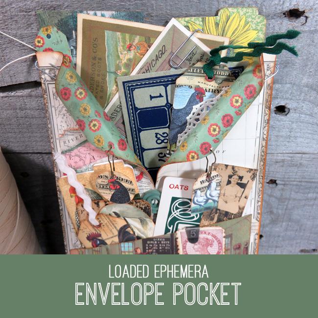 Loaded Ephemera Envelope Pocket