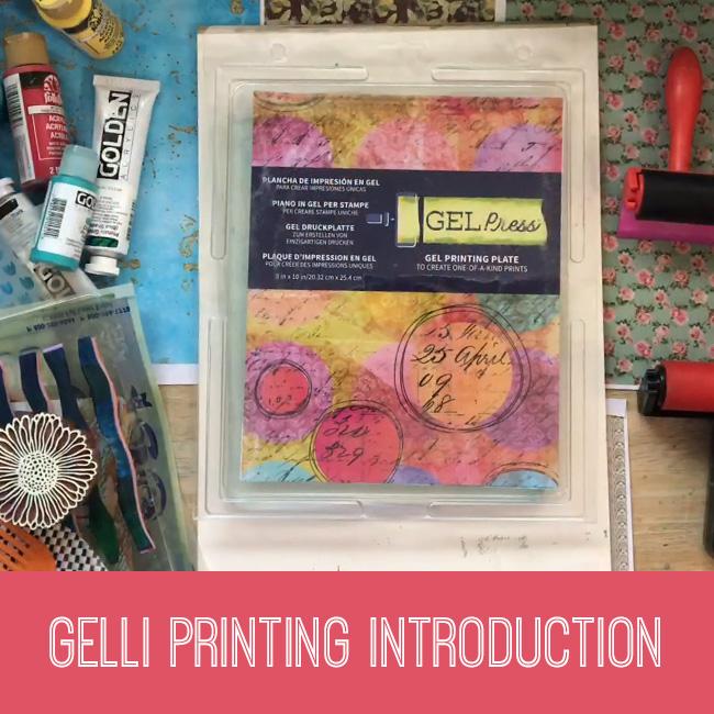 Gelli printing introduction tutorial