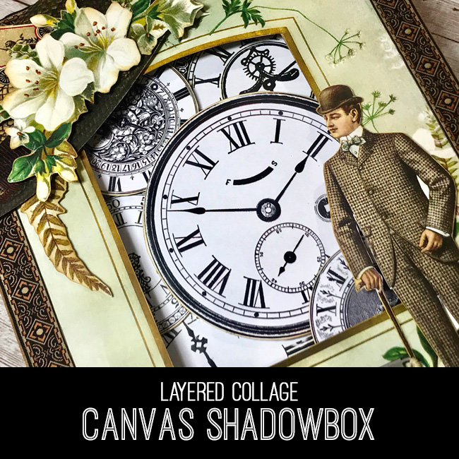 Layered Collage Canvas Shadowbox Tutorial