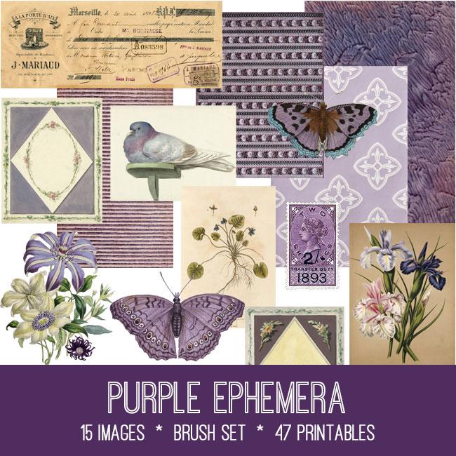 Purple Ephemera Kit