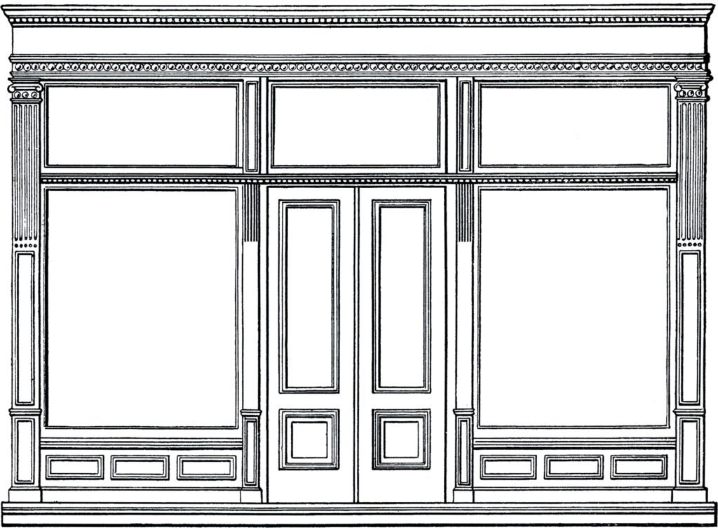 architecture store shop clip art