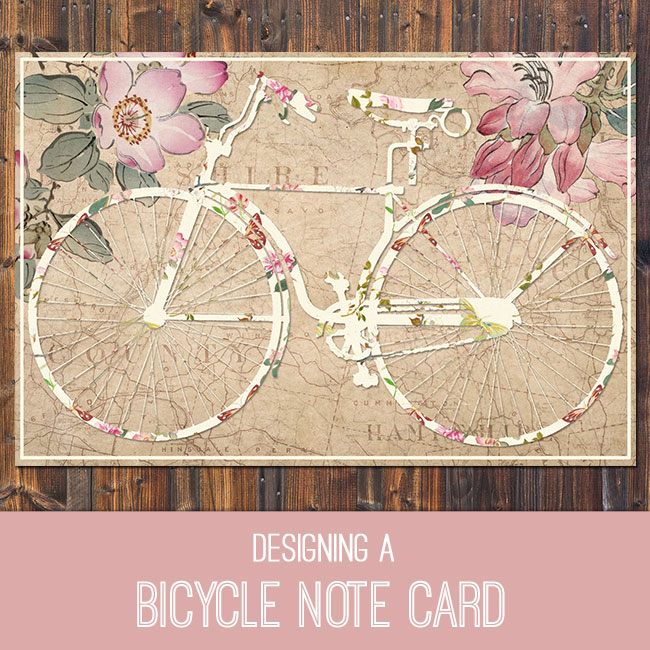 bicycle note card PSE Tutorial