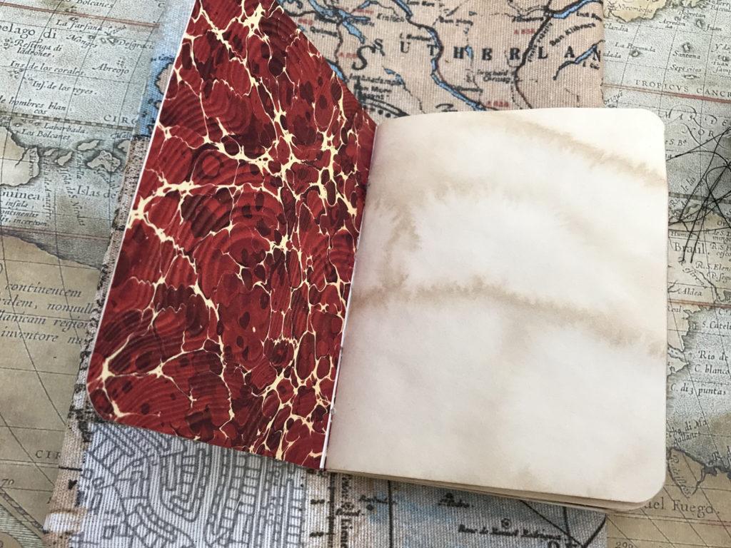 Mini Notebook Red Endpaper