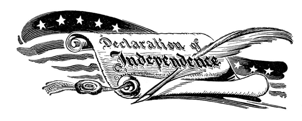 Declaration of Independence Flag Image