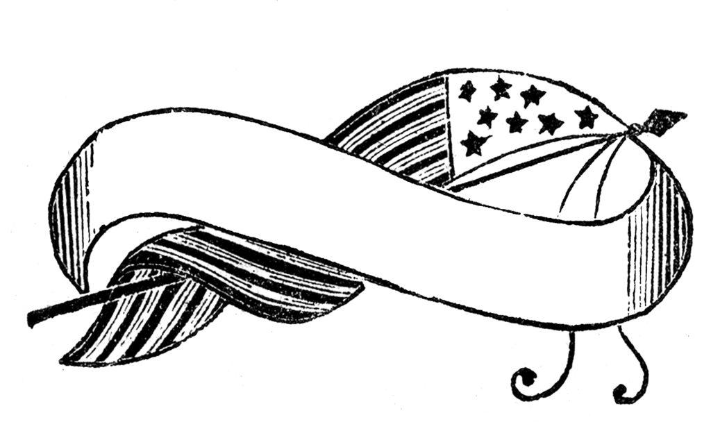 flag banner patriotic blank clipart